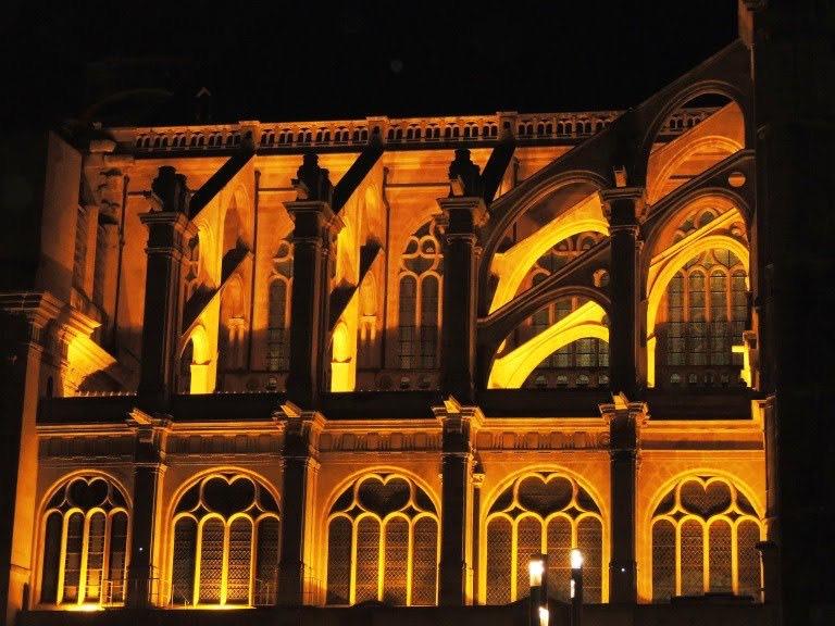 Eglise Saint-Eustache de nuit - Paris