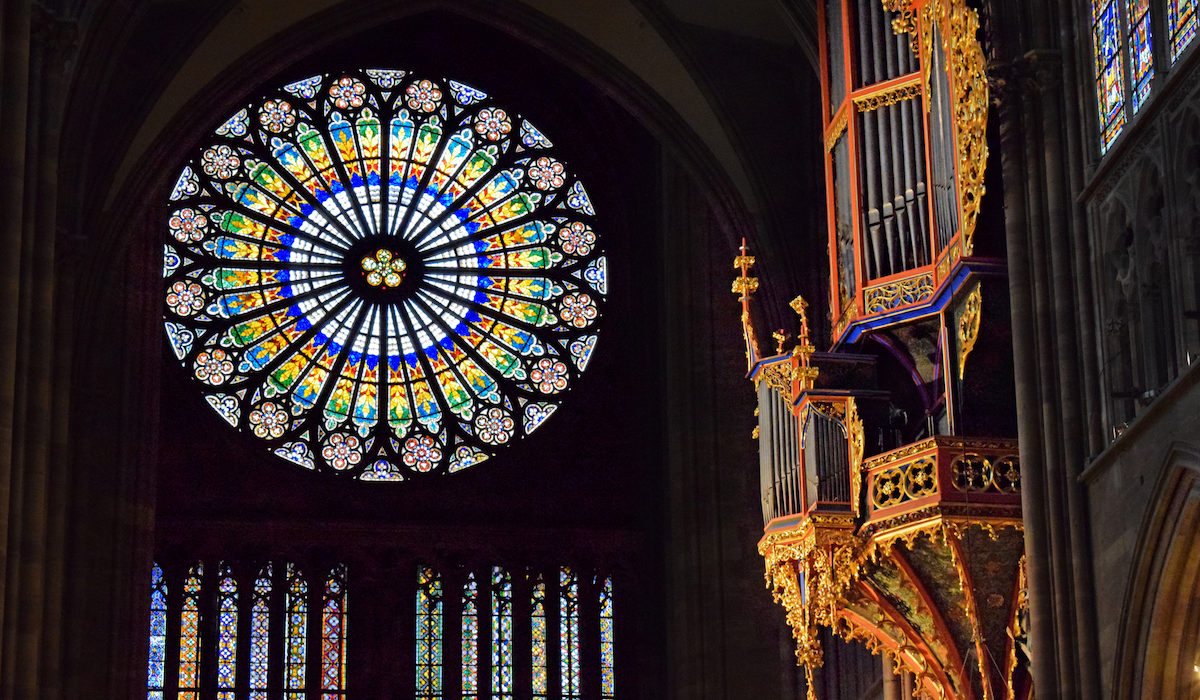 Strasbourg Cathedral Rose Window and Organ © French Moments