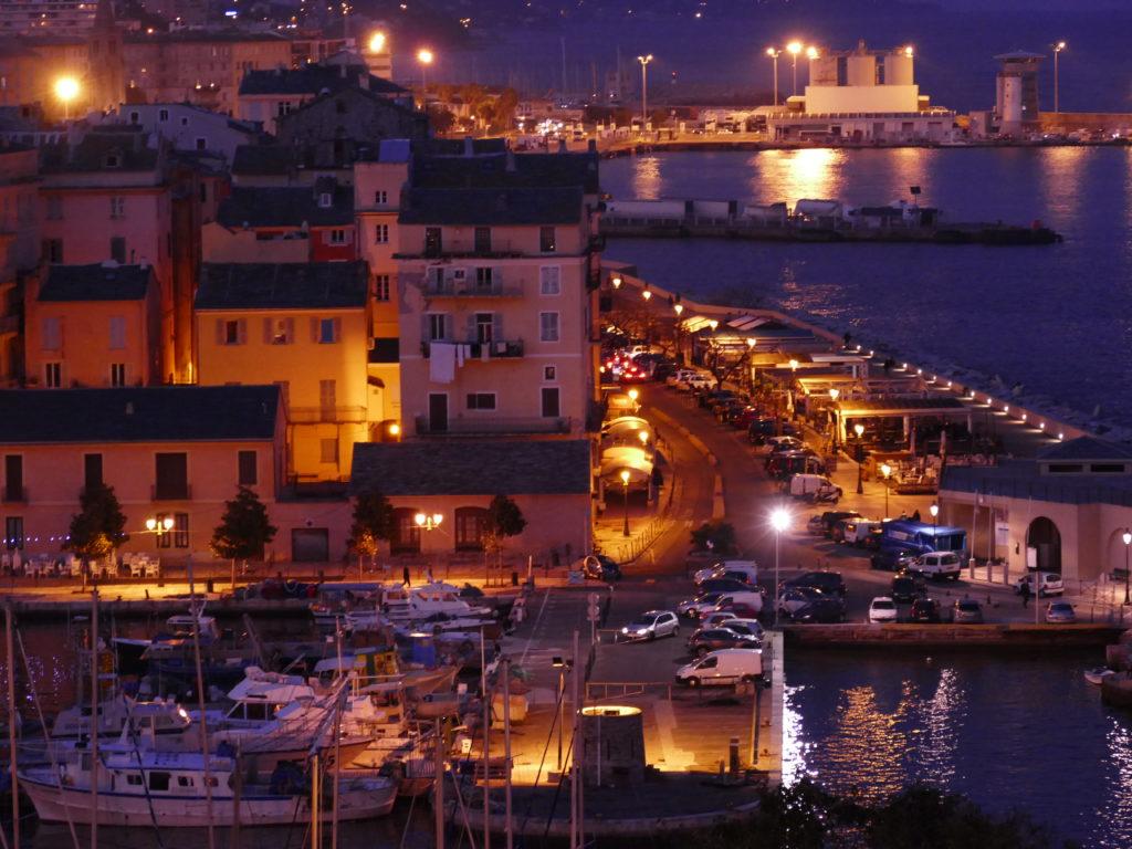 port de Bastia la nuit