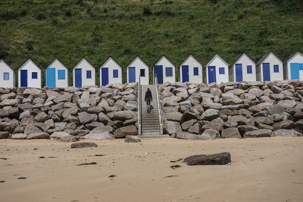 cabane sur les plages de normandie